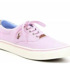 NIB Polo Ralph Lauren Thorton Pink Oxford Sneakers